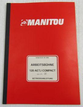 Manitou 120 AETJ Compact Arbeitsbühne Betriebsanleitung Bedienungsanleitung 9/05