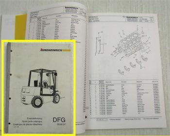 Jungheinrich DFG 35 40 LF Ersatzteilliste Parts List Pieces Detachees 1993/94