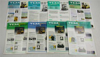 8 Prospekte Technische Daten TCM Gabelstapler 700 Serie FG FD Gas Diesel Benzin