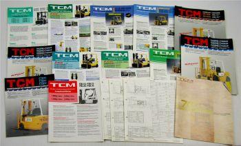 17 Prospekte Datenblätter TCM Gabelstapler 700 Serie FG FD Gas Diesel Benzin