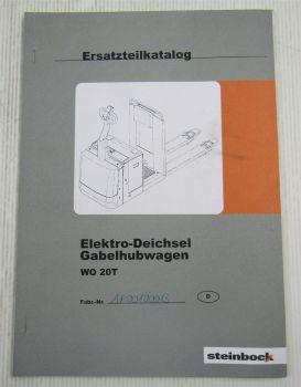 Steinbock WO 20T Elektro Gabelhubwagen Ersatzteilliste Parts List ca 2000