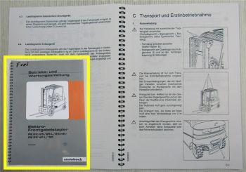 Steinbock PE 22 25 L HP HPL 30 Elektro Stapler Bedienungsanleitung Wartung 2001