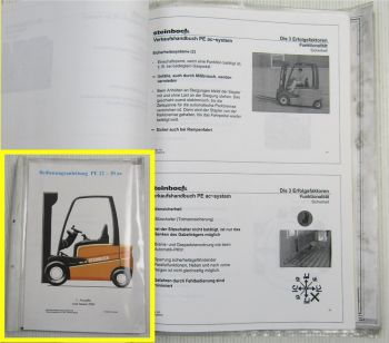 Steinbock Gabelstapler PE Modelle EFG Stapler Werkstatt Verkaufs-Unterlagen 2000