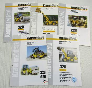 5 Prospekte Kramer Allrad 220 320 420 Lader Technischen Daten 1990er Jahre