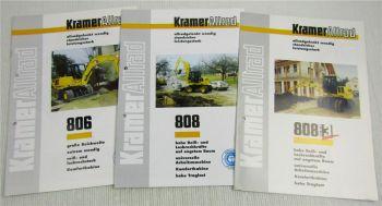 3 Prospekte Kramer Allrad 806 808 + Serie 3 Bagger Technischen Daten 1996/98