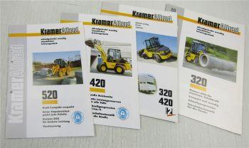 4 Prospekte Kramer Allrad 320 420 520 Radlader mit Technischen Daten um 97/98