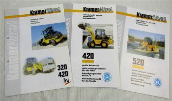 3 Prospekte Kramer Allrad 320 420 520 Radlader mit Technischen Daten um 1997