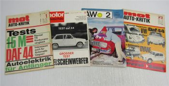 4 Zeitschriften DAF 44  Automobil-Fachzeitschrift mot Autokritik motor Rundschau