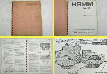 HAMM HW432 Walze Bedienungsanleitung Betriebsanleitung Wartung 1980