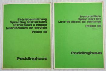 Peddinghaus Pedax 28 Betonstahl- Stahlschere Bedienungsanleitung Ersatzteilliste