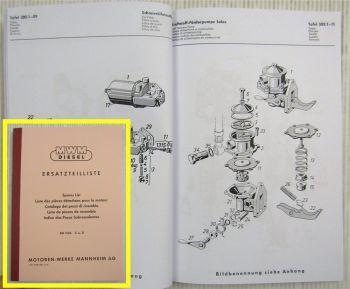 MWM KD 1105 Z + D Ersatzteilliste 1964
