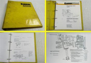 Kramer Allrad 316S Baggerlader Technische Information Werkstatthandbuch ca 1987