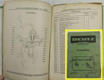 Deutz D25 D25S Typ 25.1 Dieselschlepper Ersatzteilliste Ersatzteilkatalog 7/1960