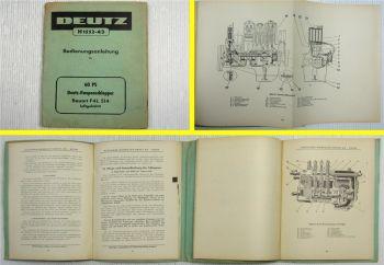 Deutz F4L 514 Raupenschlepper 60PS Betriebsanleitung Bedienungsanleitung 1957