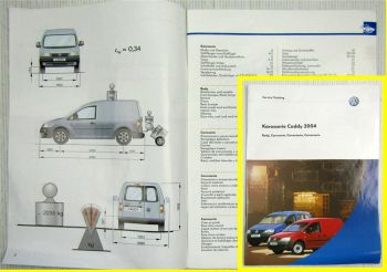 Service Training VW Caddy 2K ab 2004 Karosserie Body Carroceria Carrozzeria