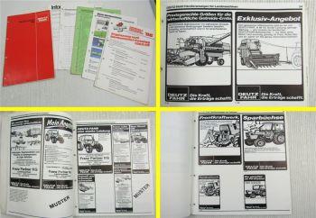 Deutz Fahr Traktoren Landtechnik Anzeigen Matern Werbemittel Katalog 1986