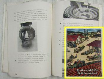 Continental Reifen für die Landwirtschaft Ratgeber Broschüre 1962