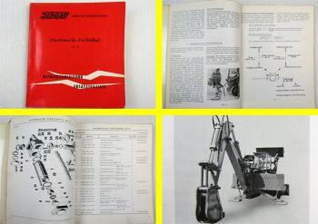 Schaeff HT2 Tieflöffel Betriebsanleitung Ersatzteilliste Hydraulik Schema 1962