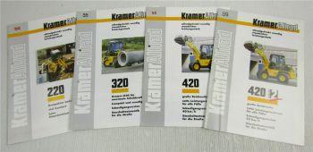 4 Prospekte Technische Daten Kramer Allrad 220 320 420 + Serie 2 Lader 90er Jahr