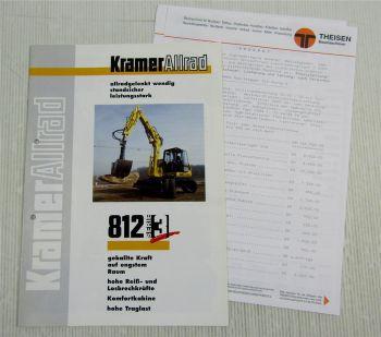 Prospekt Technische Daten Kramer Allrad 812 Serie 3 Mobilbagger + Preisangebot