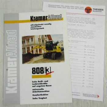 Prospekt Technische Daten Kramer Allrad 808 Serie 3 Mobilbagger + Preisangebot