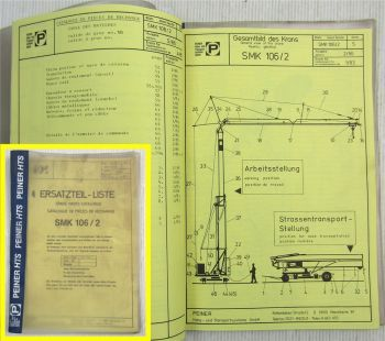 Peiner SMK 106/2 Turmdrehkran Ersatzteilliste 1986