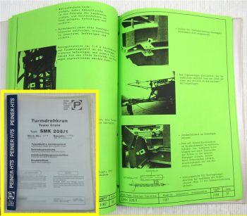 Peiner SMK 205/1 Turmdrehkran Betriebsanleitung Typenblatt ca. 1990
