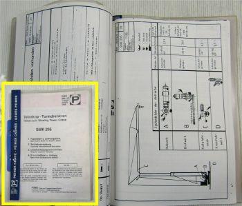 Peiner SMK 205 Turmdrehkran Betriebsanleitung Typenblatt 1989