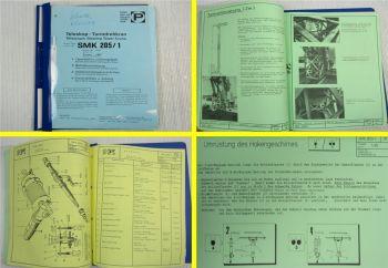Peiner SMK 205/1 Turmdrehkran Betriebsanleitung Ersatzteilliste Typenblatt 1989