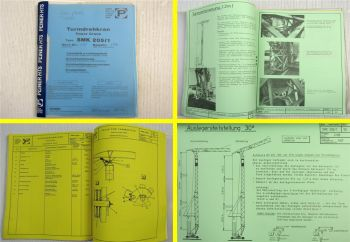 Peiner SMK 205/1 Turmdrehkran Betriebsanleitung Ersatzteilliste Typenblatt 1990
