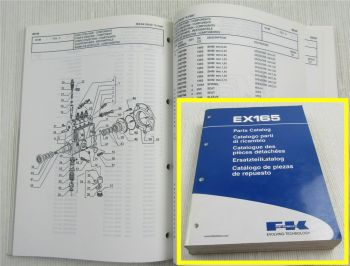 FK Fiat Kobelco EX165 Ersatzteilliste Parts List Catalogo Parti di ricambi 2002