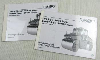 HAMM DV DVO 8 K V super Bedienungsanleitung Betriebsanleitung Wartungsanleitung
