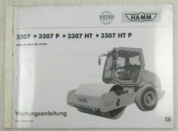 HAMM 3307 P HT HTP Vibrationswalzenzug Wartungsanleitung 10/2000