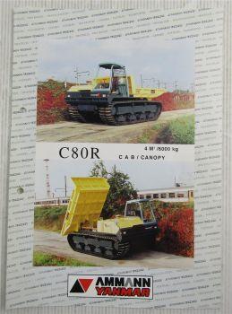 Prospekt mit Technischen Daten Ammann Yanmar C80R Cab/Canopy Transporter