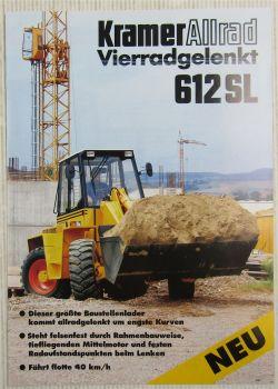 Prospekt mit Technischen Daten Kramer Allrad 612SL Schaufellader von 11/1993