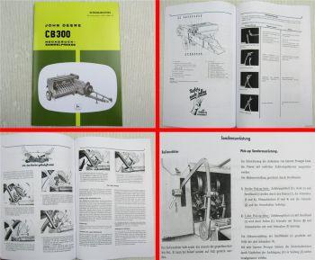 John Deere CB300 Hochdrucksammelpresse Bedienungsanleitung Betriebsanleitung