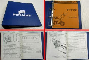 Fiat-Allis Fiatallis FR10 Radlader Reparaturdaten Werkstatthandbuch 1980er Jahre