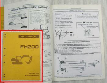 Fiat Hitachi FH200 FH200.2 Bagger Betriebsanleitung Bedienungsanleitung 6/1990