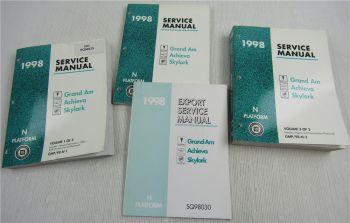 GM Service Manual 1998 Pontiac Grand Am Export Oldsmobile Achieva Buick Skylark