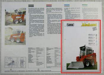 Prospekt Lanz Zetcat LL24 Kompaktlader chargeuse de direction 1990