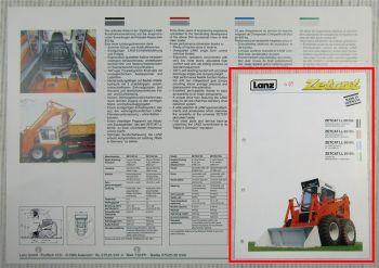 Prospekt Lanz Zetcat LL60 60-5 Kompaktlader chargeuse de direction 1989