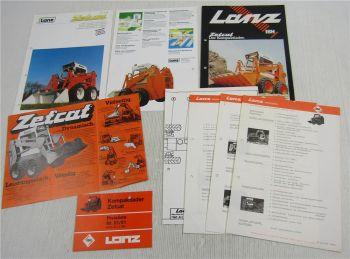 4 Prospekte Lanz Zetcat + Preisliste ab 2/81 + 3 Informationen Kundendienst 1980
