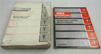 GM Service Manual 1991 Pontiac Bonneville + Export 1992 Werkstatthandbuch