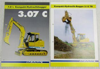 2 Prospekte Benmac 3.07C Hydraulikbagger 7,8t + 3.12TB Kompakt-Hydraulikbagger