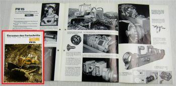 Prospekt Kaelble PR15 Planierraupe 1968 mit technische Daten