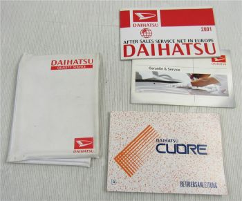 Betriebsanleitung Daihatsu Cuore L701 Bordmappe Bordbuch Serviceheft 1999