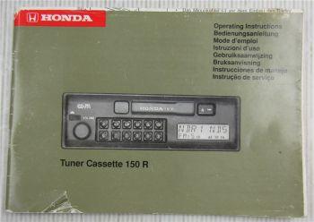 Blaupunkt 150 R Cassette Radio Honda Bedienungsanleitung Operating instructions