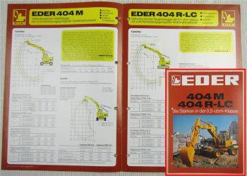 Prospekt Eder 404M 404R-LC vollhydraulische Mobilbagger ca 1975 - 1980