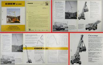 Prospekt Eder W350 Universalgerät für Bagger und Kran + Preisangebot ca 1969
