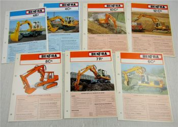 7 Prospekte opuscoli BENFRA 4Rd 4Ch 6Cd 7Rb 8Ch 10Cd 12Ch scavatrice ca 1970